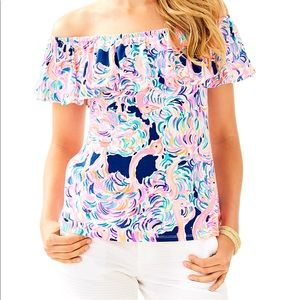 Lilly Pulitzer NWT La Fortuna off-shoulder top